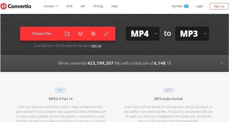 convert audio file online-Convertio