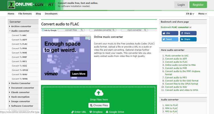 FLAC Online Video Converter - Conversão Online