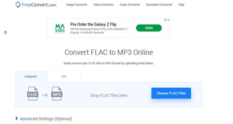 FLAC Online Video Converter -FreeConvert