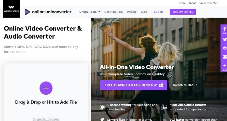 converter arquivo FLV online-Online UniConverter