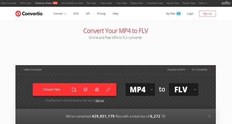 converter arquivo FLV online-Convertio