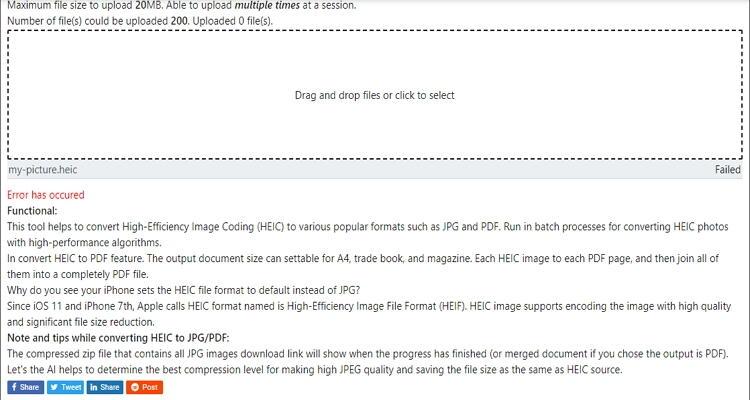 converter HEIC para JPEG online-Freetoolonline