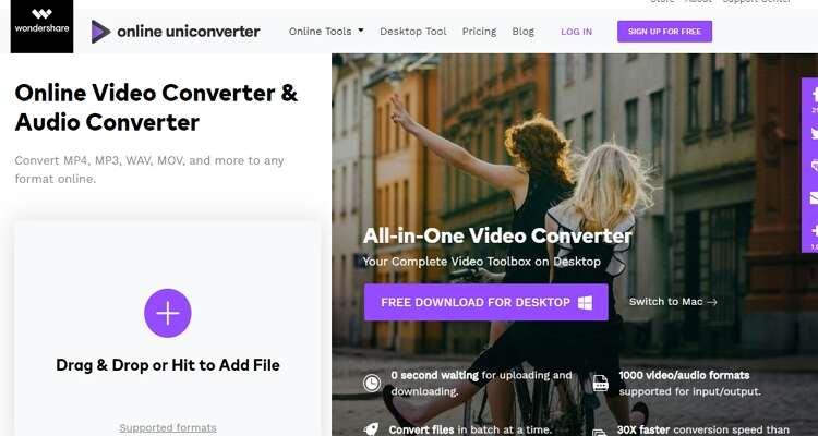 how to Convert it on Mac Online -Online UniConverter