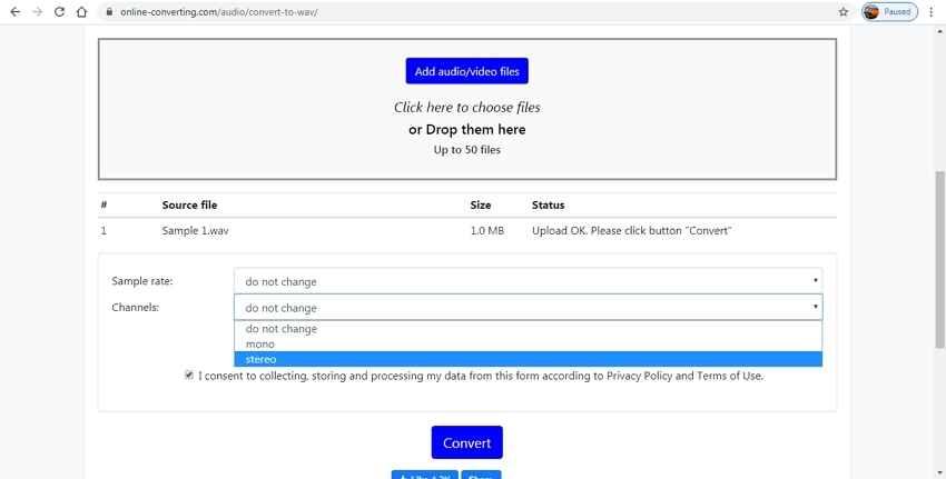 Kostenloser online Mono zu Stereo Converter - Free Online Converter