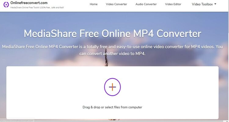 MOV Online Video Converter -Onlinefreeconvert