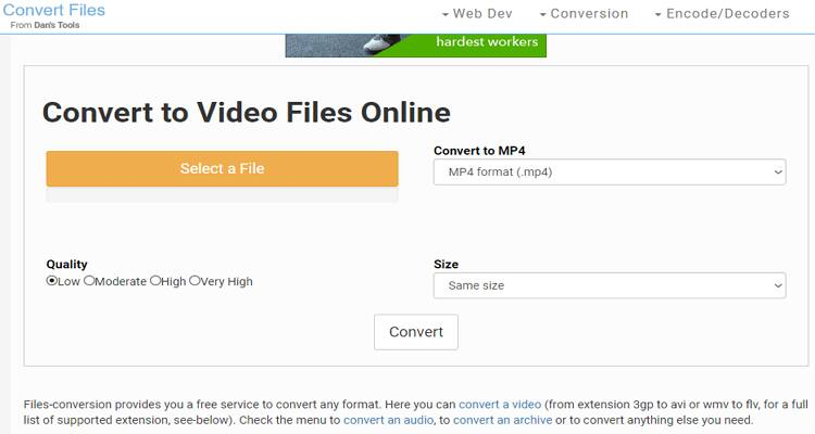 AVI and MP4 Free Converter - Convert Files