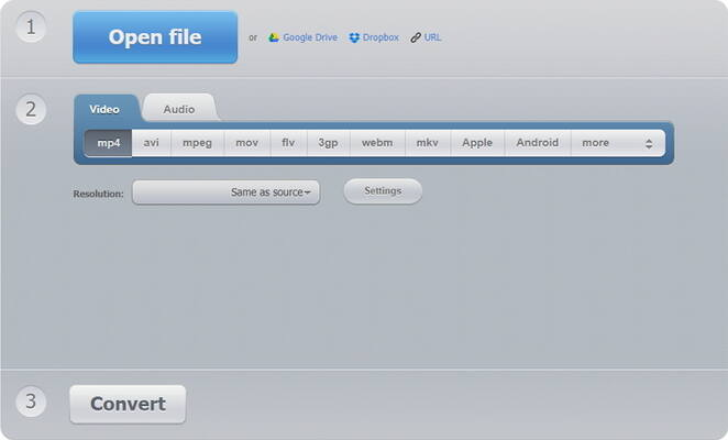 AVI and MP4 Free Converter - Online Video Converter