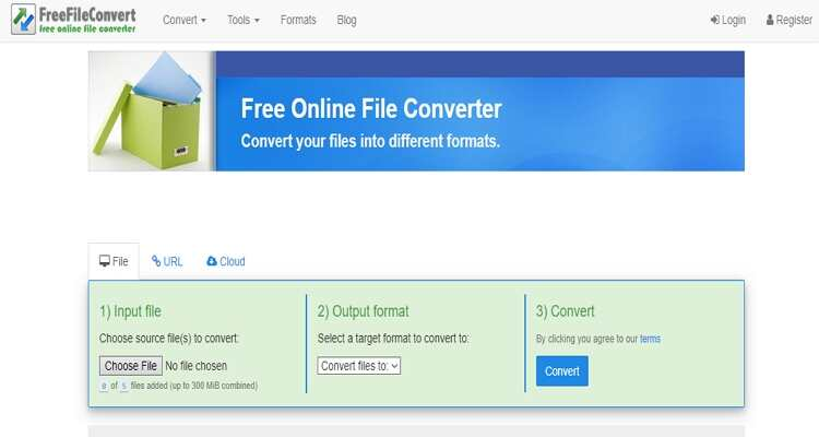 FreeFileConvert - Conversor MPEG e MP4 Online Gratuito