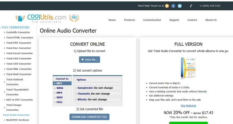 Coolutils - Conversor MPEG e MP4 Online Gratuito