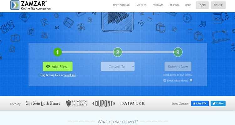 Zamzar - Conversor MPEG e MP4 Online Gratuito