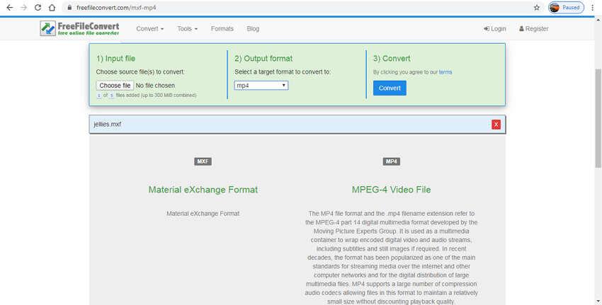 Online MXF Converters - Free File Convert