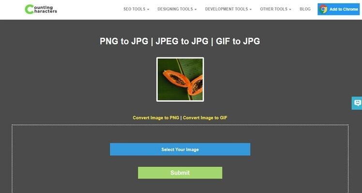 convert Pictures to JPEG online-Counting Characters