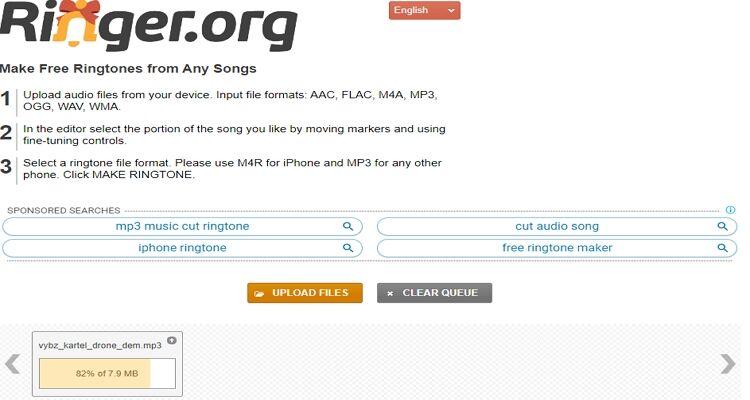 converter música para toque online-Ringer.org