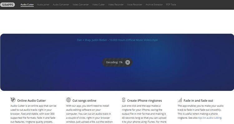converter música para toque online-MP3Cut.net
