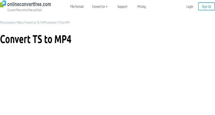 Ferramenta TS para MP4 on-line
