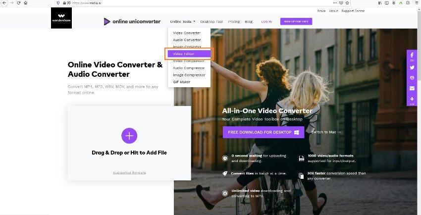 go to online uniconverter