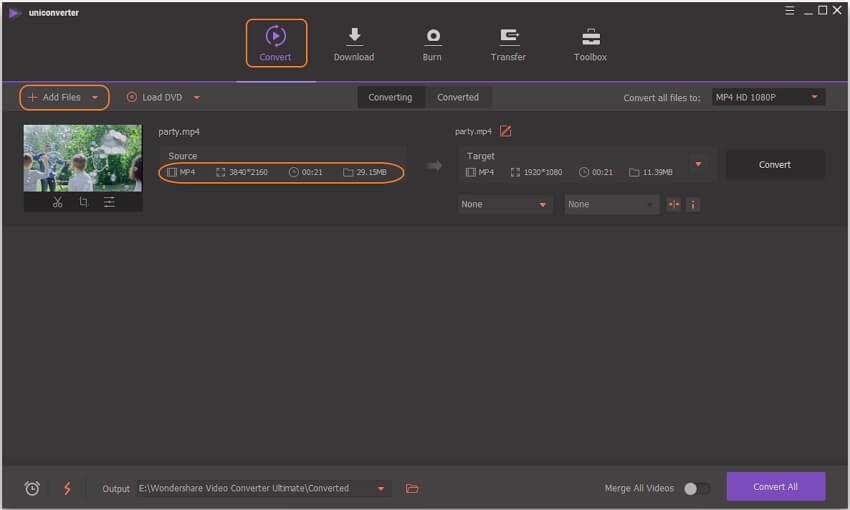 إضافة مقاطع فيديو لتحويلها إلى 1080p HD videos
