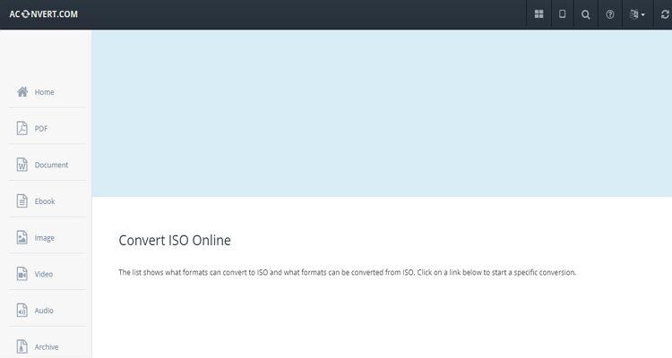 Extrator ISO on-line-AConvert