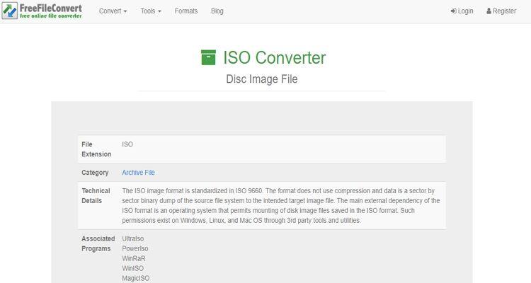 Online ISO Extractor-FreeFileConvert