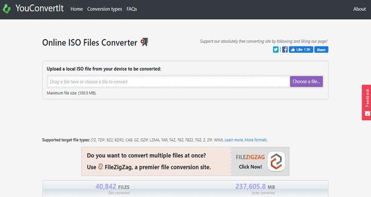 Online ISO Extractor-YouConvertIt