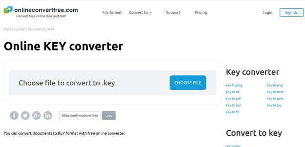 Conversor de chaves online popular -Onlineconvertfree