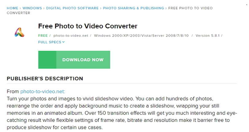 Top online photos to video converters-Free Photo to Video converter