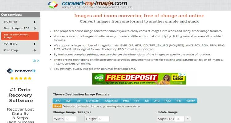 online free picture converter-Convert-my-image.com
