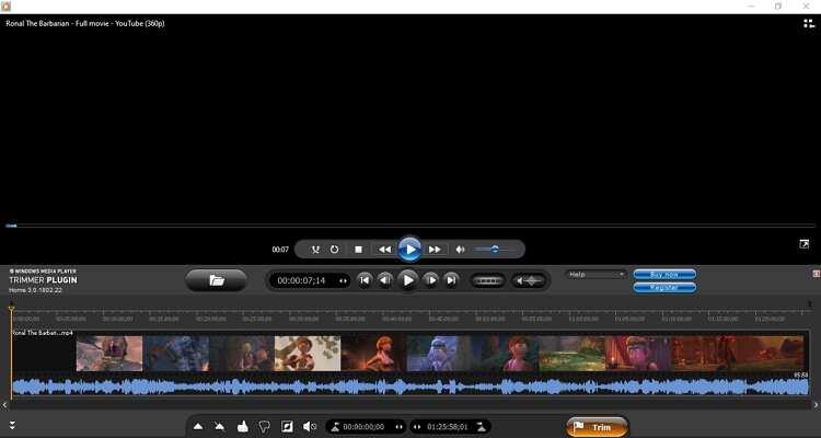 Trim Videos on Windows Media Player