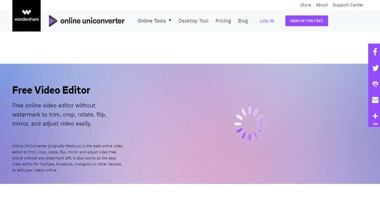 trim video by Online UniConverter