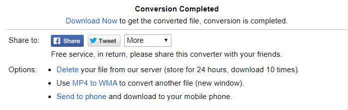 download the converted videos