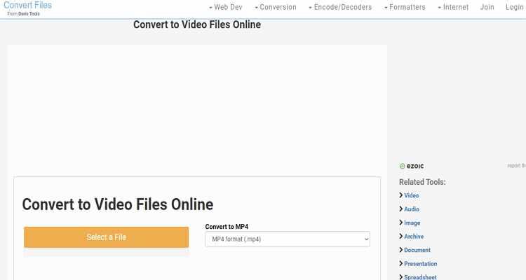 convert mp4 online free -Convert Files