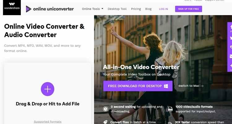 convert mp4 online free -Online UniConverter