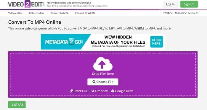 Free File Type Converter - Video2Edit