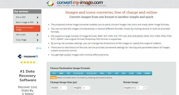 melhor tamanho de imagem converter-Convert-my-image.com