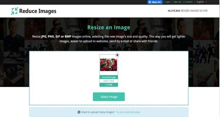 melhor conversor de tamanho de imagem-Reduzir imagens