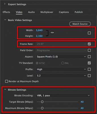 best export settings premiere pro