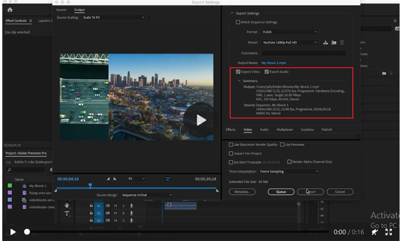best export settings for premiere pro