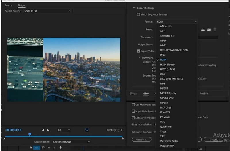 premiere pro export for youtube