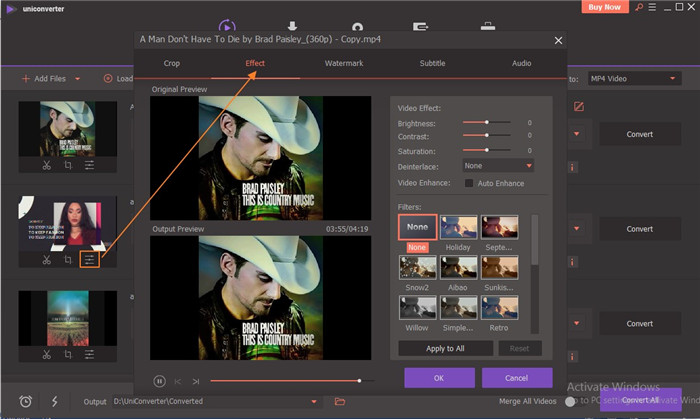 add effects to premiere pro h265