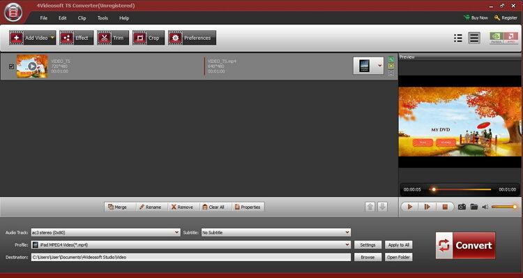 Melhor e Grátis Online TS Player-4Videosoft TS Converter