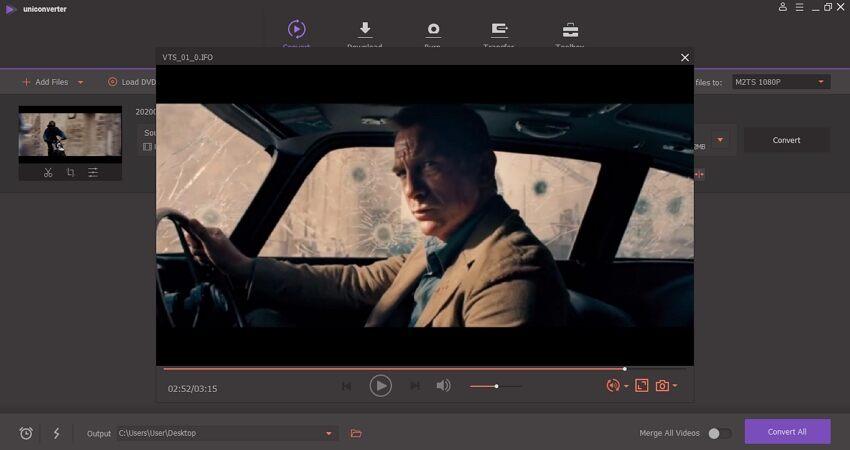 reproduzir arquivo de vídeo no uniconverter WereShare
