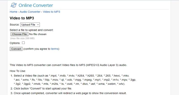 Online Video into Audio Converters-Online Converter