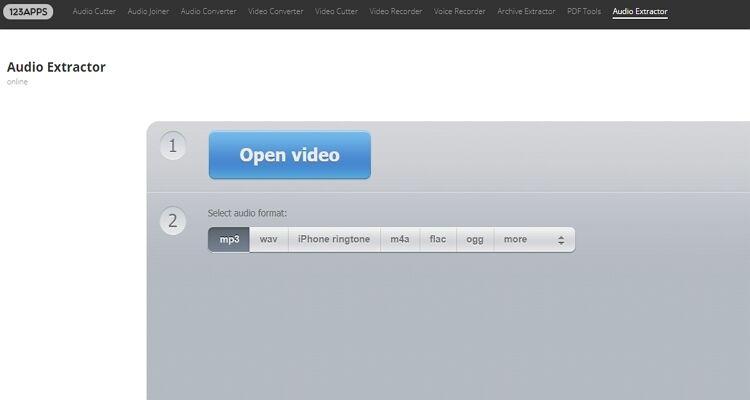 Online Video into Audio Converters-Audio Extractor