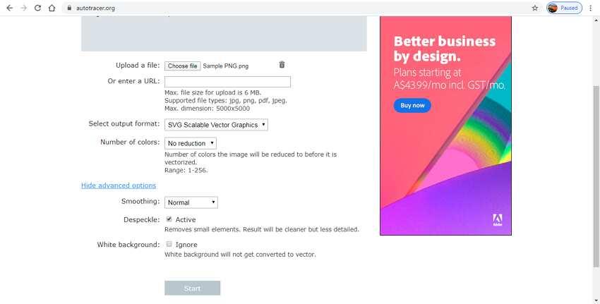 free online vector converter-Autotracer