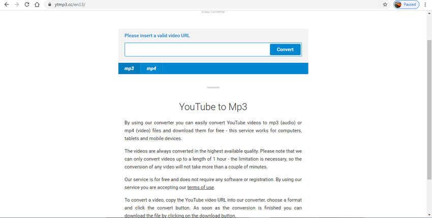 Online Video Clip Converter - YTMP3