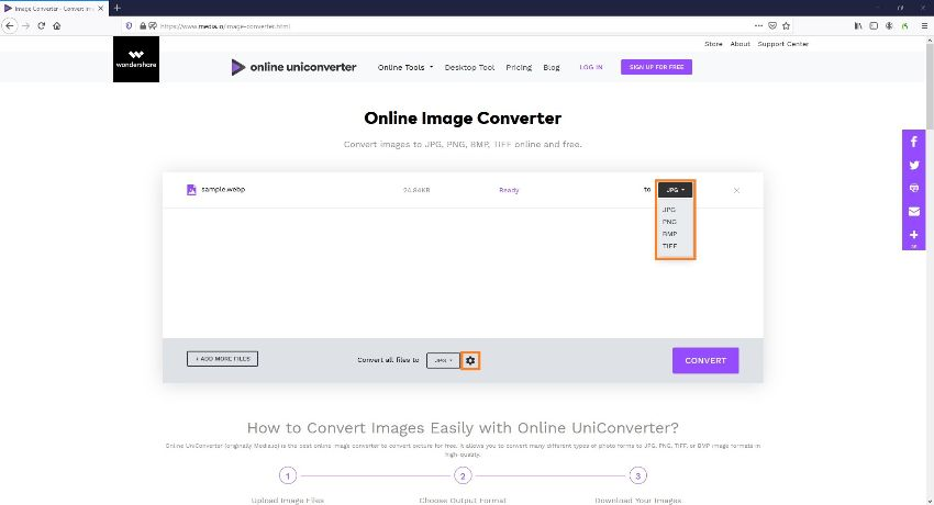 convert webpage to picture