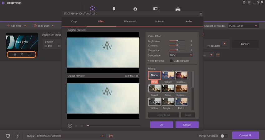 editar vídeo no uniconverter