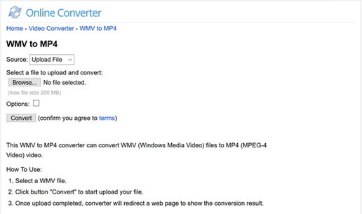 Converter Windows Media Video Online Grátis - Conversor Online