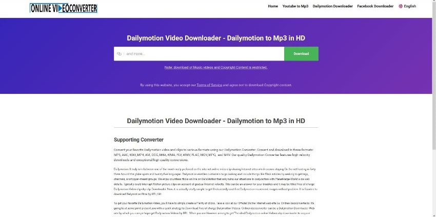 mp3 converter dailymotion