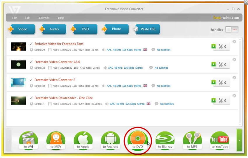 AVI to DVD burner - Freemake Video Converter